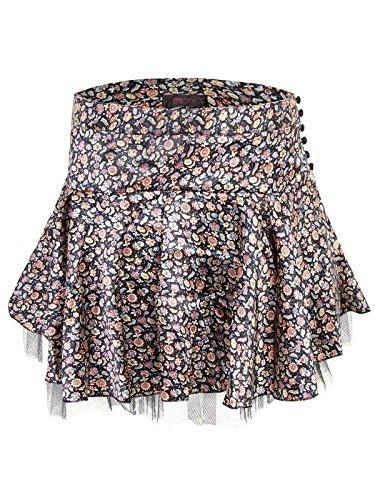 Envy Boutique Women's Rara Mesh Floral Frill Mini Skirt Dance (Floral Mesh Skirt)