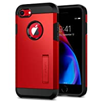 iPhone 8 Case with Kickstand, Spigen Tough Armor [2nd Generation] Extreme Heavy Duty Protection and Air Cushion Technology for Apple iPhone 7 (2016) / iPhone 8 (2017) - Red