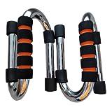 Missyee ® barres Push Up Par FreestyleFitness pompes de type barres de traction robuste en acier barres Push-Up avec poignées en mousse confortable et anti-glisse, offre en mouvement