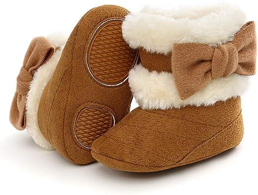 Baby Girls Boys Snow Boots Plush Soft