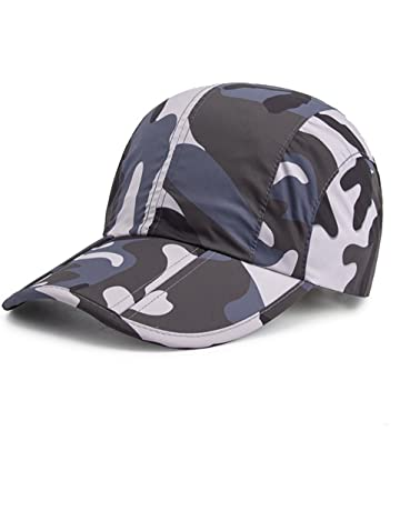 GADIEMKENSD Breathable Quick Dry Camo Hat with Folding Brim for Running  Fishing 85c8b676180f