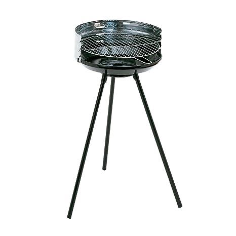 Algon AB02 Barbacoa, 66 cm de Altura, Acero Inoxidable, Color Negro, 40