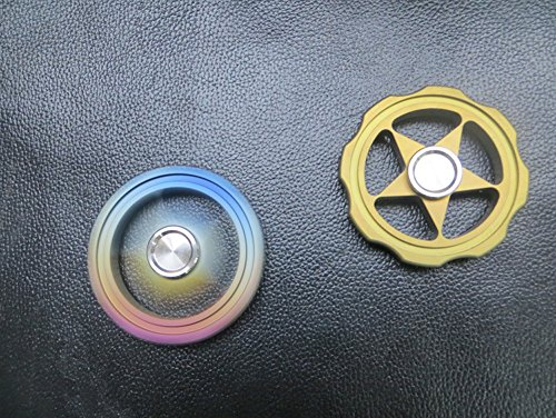 FREELOVE Rainbow Whirlwind Fidget Spinner,Titanium Alloy,Stainless Steel Finger Cover with British Tungsten Steel Beads R188 Bearing,No Edges/Corners,Precise EDC Stress Reduce Toy (Hollow Rainbow) by FREELOVE (Image #4)