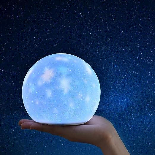 Luz nocturna multifuncional de silicona, proyector de estrellas ...