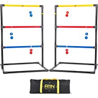 A11N Upgraded Premium Ladder Toss Game Set with 6 Golf Bolas & Carrying Bag