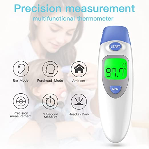 Amazon.com: Baby Thermometer, Digital Infrared Forehead and Ear Thermometer for Kids Baby Adults Fever Unioncare - FDA and CE Approved: Health & Personal ...