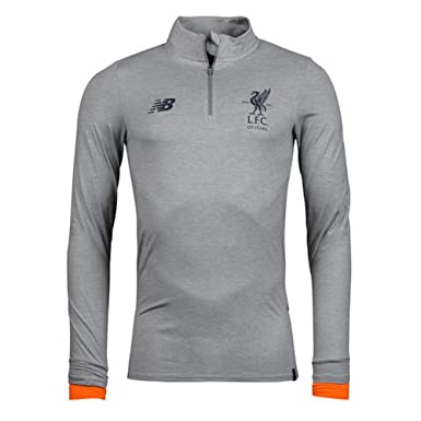 69a7bbcf2f0 Liverpool FC 17/18 Mid Layer Football Training Top - Grey Marl - Size XXL:  Amazon.co.uk: Clothing