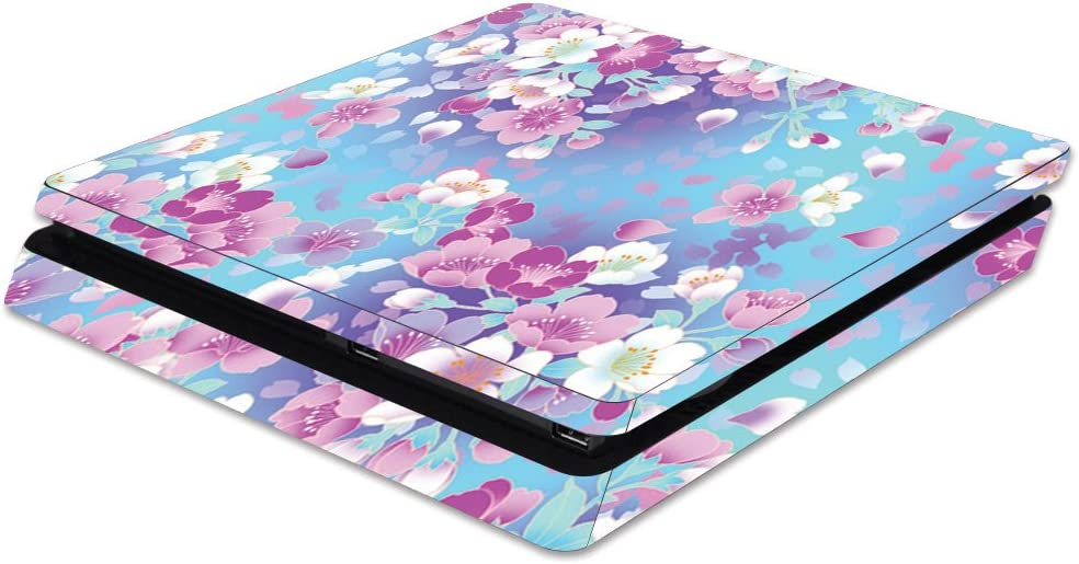 MightySkins Skin Compatible with Sony PS4 Slim Console - in Bloom | Protective, Durable, and Unique Vinyl Decal wrap Cover | Easy to Apply, Remove, and Change Styles | Made in The USA