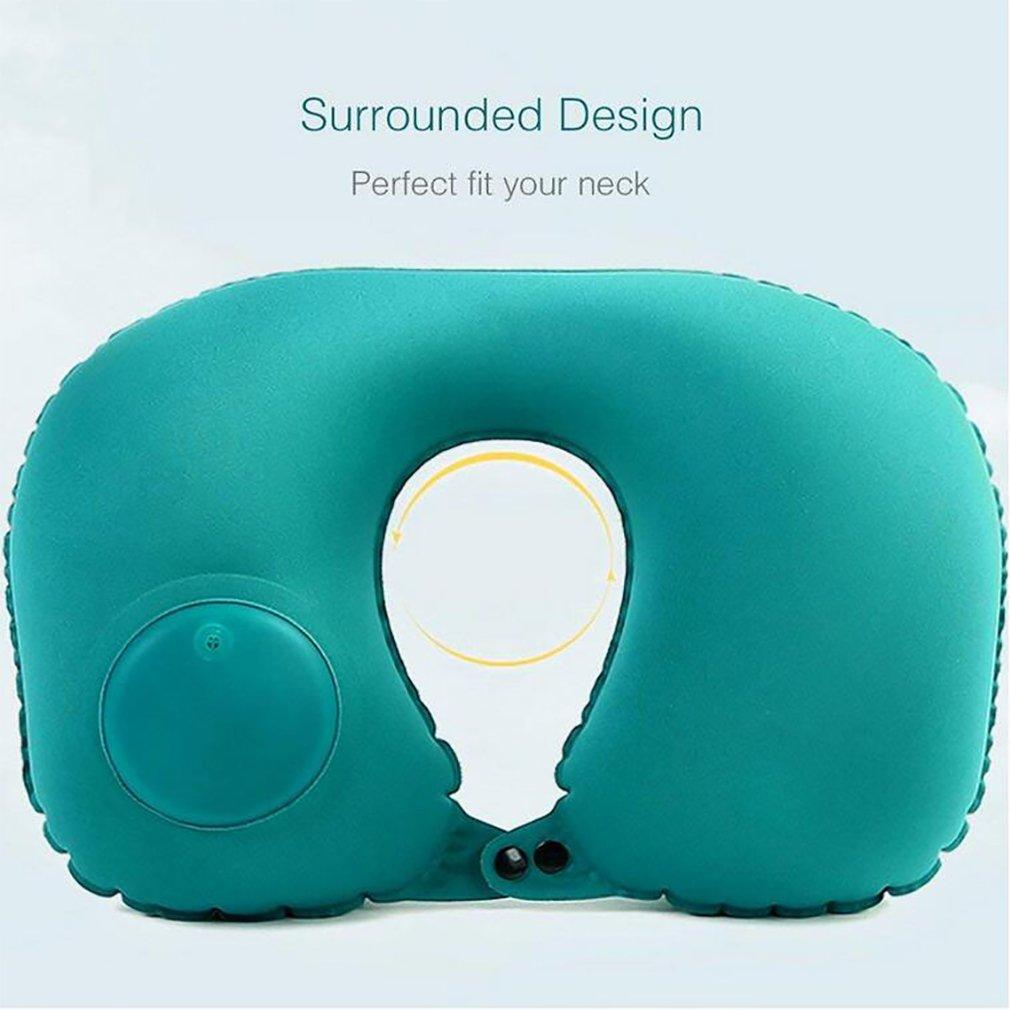 Amazon.com: Almohada inflable automática en forma de U ...