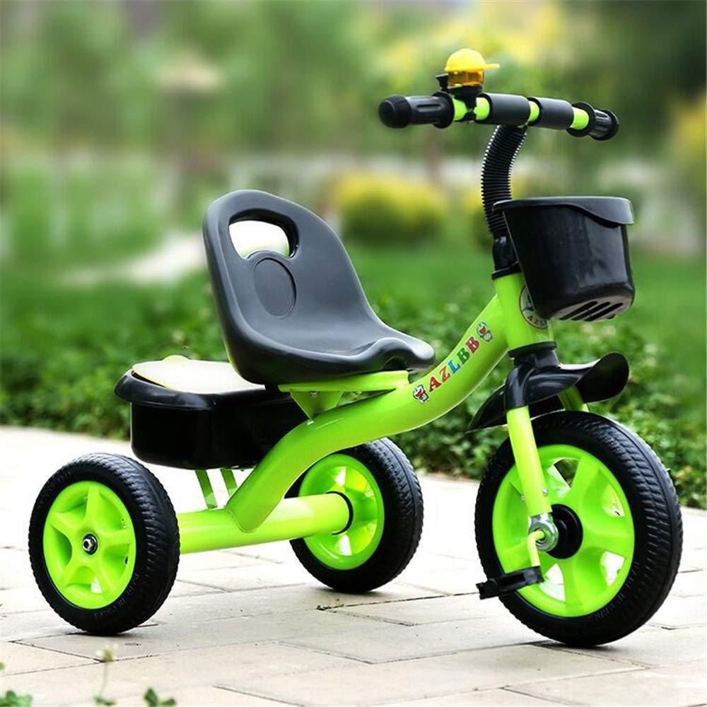 precio mas barato verde Un tamaño Triciclo de seguridad ajustable para niños niños niños Baby Balance Bicicletas Bicicletas Bicicletas Niños Triciclos Walker con manija de empuje para la dirección y el juguete Cubo de arena Paseos para niños pequ  sin mínimo