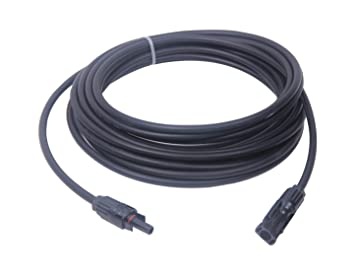 amazon com solar cable mc4 connectors copper 10 awg 19 strand rh amazon com Solar Panels Wiring in Series solar panel cables and wires