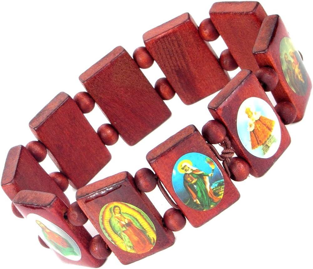 Lovely lauri XXL de madera pulsera iconos Santa imágenes grande