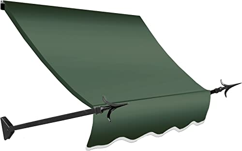 Awntech 4-Feet New Orleans Awning, 31-Inch Height by 16-Inch Diameter, Sage