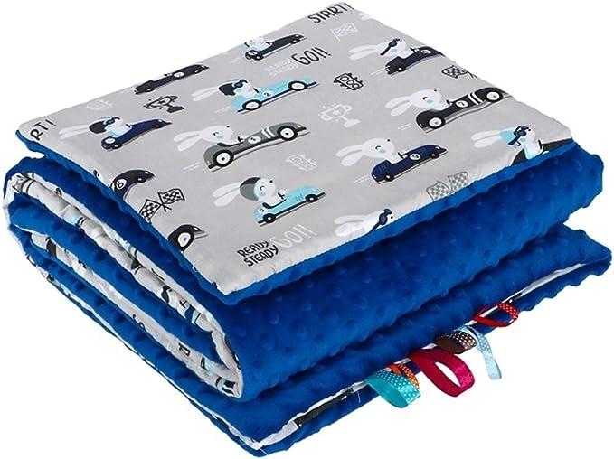 Jukki /® Babydecke-MINKY-2-tlg-SET Velvet Decke-mit-KISSEN-Kuscheldecke-Krabbeldecke-Wagendecke f/ür Baby M/ädchen und Jungen Kinderwagen Decke 75x55 cm//Kissen 25x35 cm
