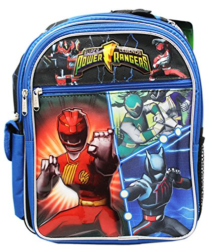 (Power Rangers Super Legends Blue Colored Small Size Backpack (12in))