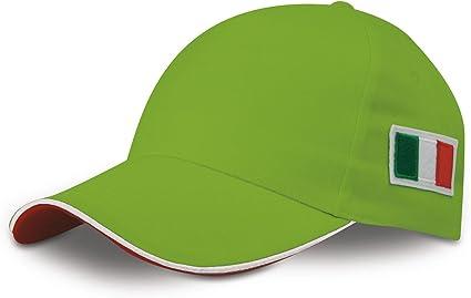 n.d. Sombrero Gorra Bordado Bandera Italia Gorra Tricolor Verde Acido: Amazon.es: Deportes y aire libre