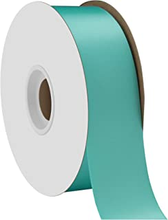 """product image for Berwick Offray 1.5"""" Single Face Satin Ribbon, Navajo Turquoise Blue, 50 Yds"""