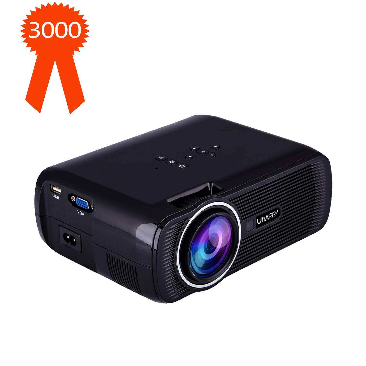 TOPRUI 2018 Mini LED Movie Video Projector, +30% Brighter Lumens Full HD Portable Projector 1080P with 170'' Big Display for Outdoor/ Home Theater HDMI,TV,SD Card,AV,VGA,USB, iPhone Android Laptop