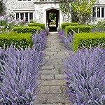 WINOMO-4pcs-Artificial-Flocked-Lavender-Bouquet-Purple-Flowers-Bridal-Home-Garden-Wedding-Decor