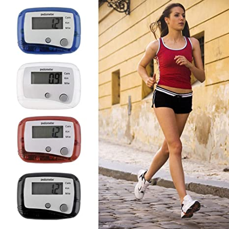 Mini Electronic LCD Digital Run Pedometer Walking Distance Step Calorie Counter