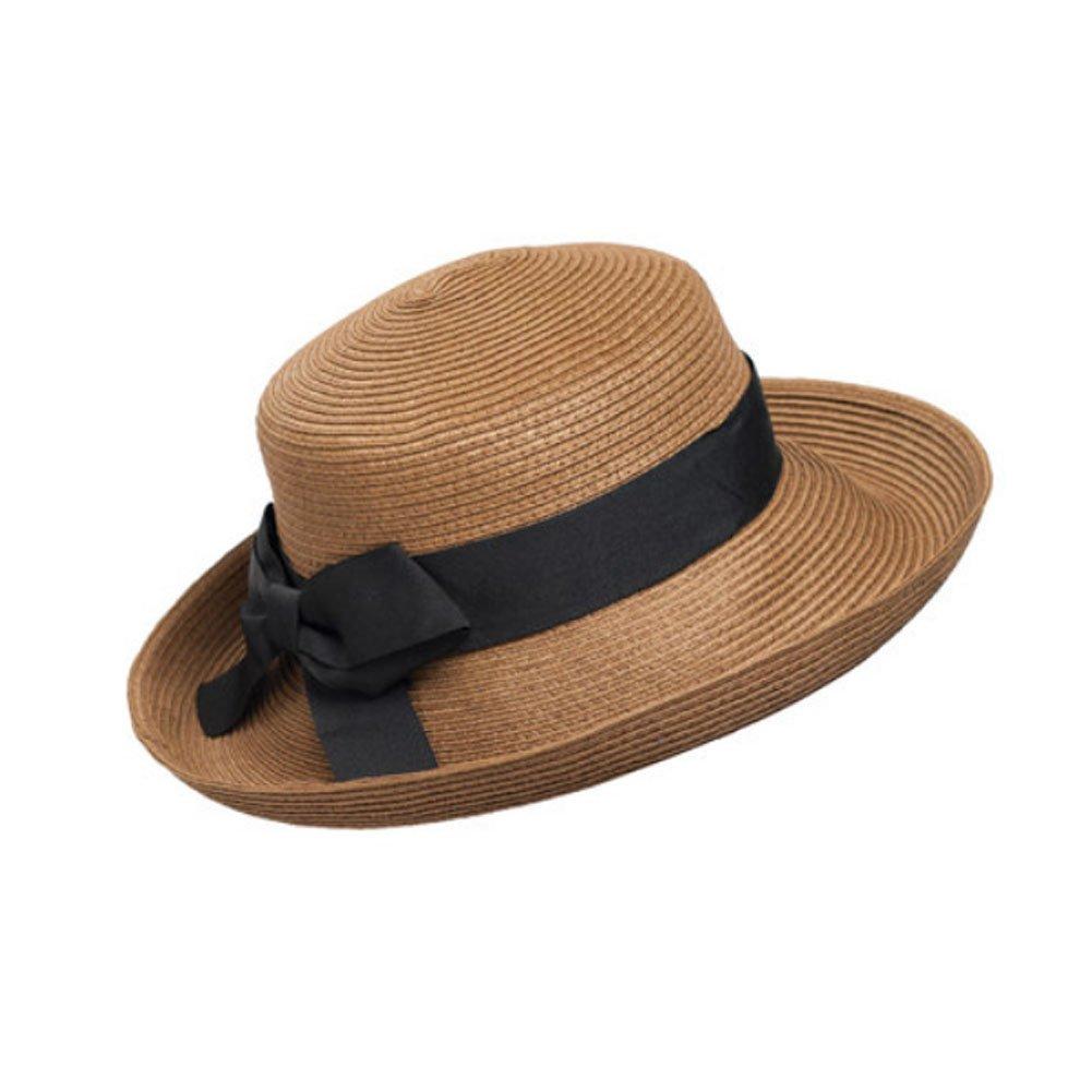 Kylin Express femmes Summer et UV pliable chapeau de paille plage soleil Bouchons (Marron) Blancho Bedding KE-CLO5427597011-AMANDA00020