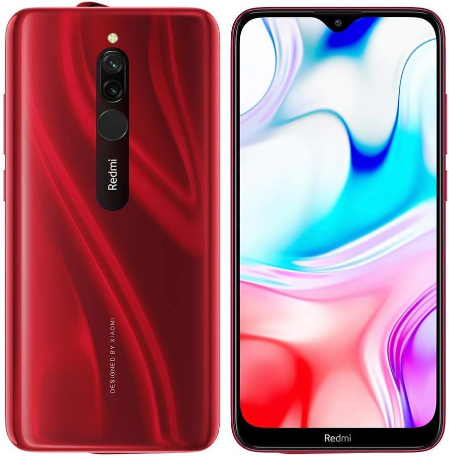 Xiaomi Smartphone Redmi 8 6.22'' HD + 3GB/32GB 4G-LTE 8/12+2Mpx Dualsim A9.0 Ruby Red