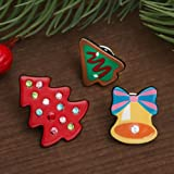 3 Cute Corsage Collar Brooch Pins Christmas Tree