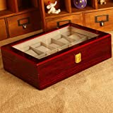 generic Watch boxes watch storage box bracelet jewelry box giving your boyfriend a gift,Red 12
