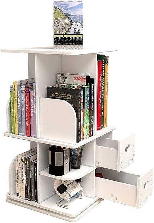 DWY-Bookshelf Estante Estantería de Mesa giratoria Creativa ...