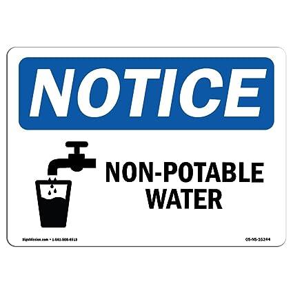 Señal de advertencia de Osha - Aviso no apto para agua ...