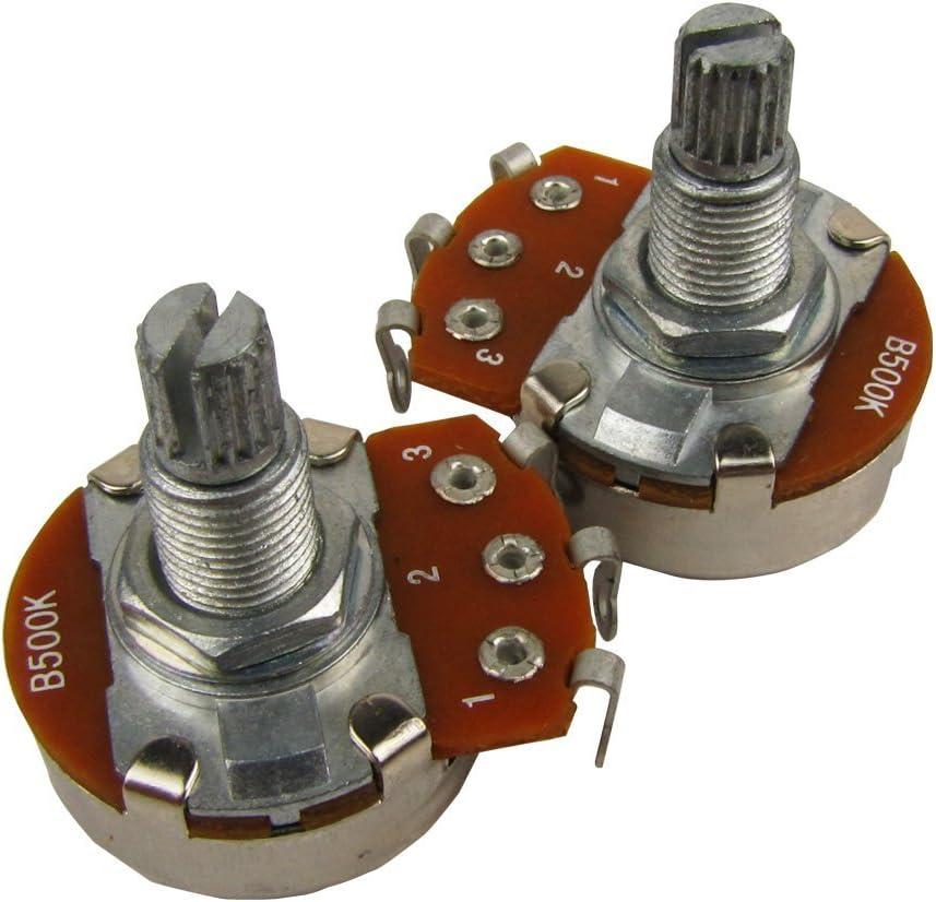 4x 100k 18mm Split Solid Shaft Gitarren Volume Tone Potentiometer