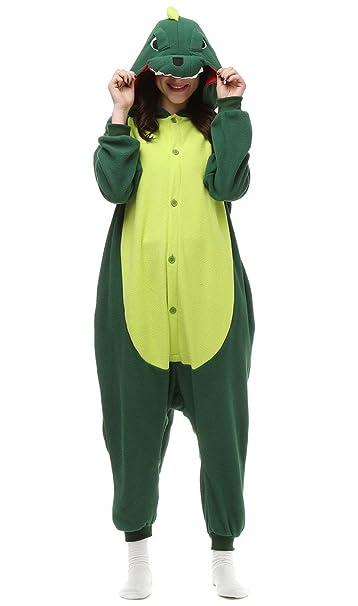 Auspicious beginning Unisex-adulto dinosaurio verde del traje de Cosplay de los pijamas de dibujos animados Homewear desgaste del salón: Amazon.es: Ropa y ...