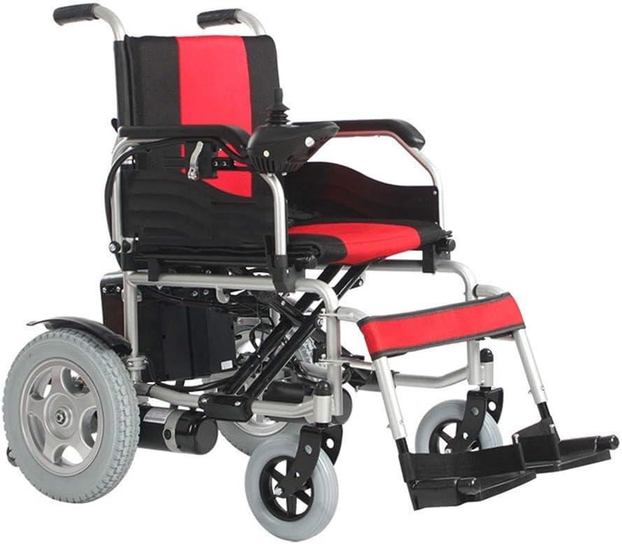 Ancianos Eléctricos Silla de Ruedas para Ancianos, Scooter para Discapacitados para Ancianos, Vehículo Deportivo Inteligente de Cuatro Ruedas Plegable Ligero Silla de Ruedas para Adultos Mayores, DL