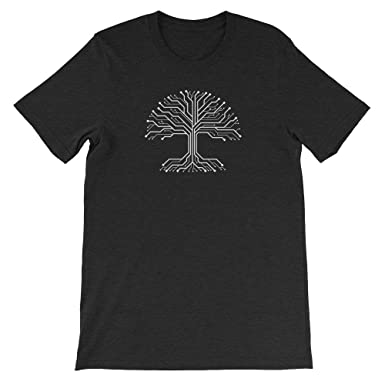 02bdcbd87ec129 Hacker Warehouse Digital Tree Roots Unisex T-Shirt at Amazon Men's ...