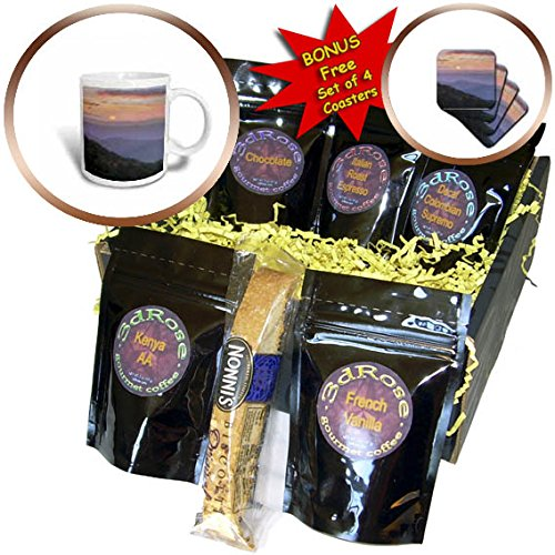 3dRose Danita Delimont - Sunrises - Sunrise over Blue Ridge Mountains, Great Smoky Mountains NP, Tennessee - Coffee Gift Baskets - Coffee Gift Basket (cgb_260067_1) (Tennessee Gift Basket)