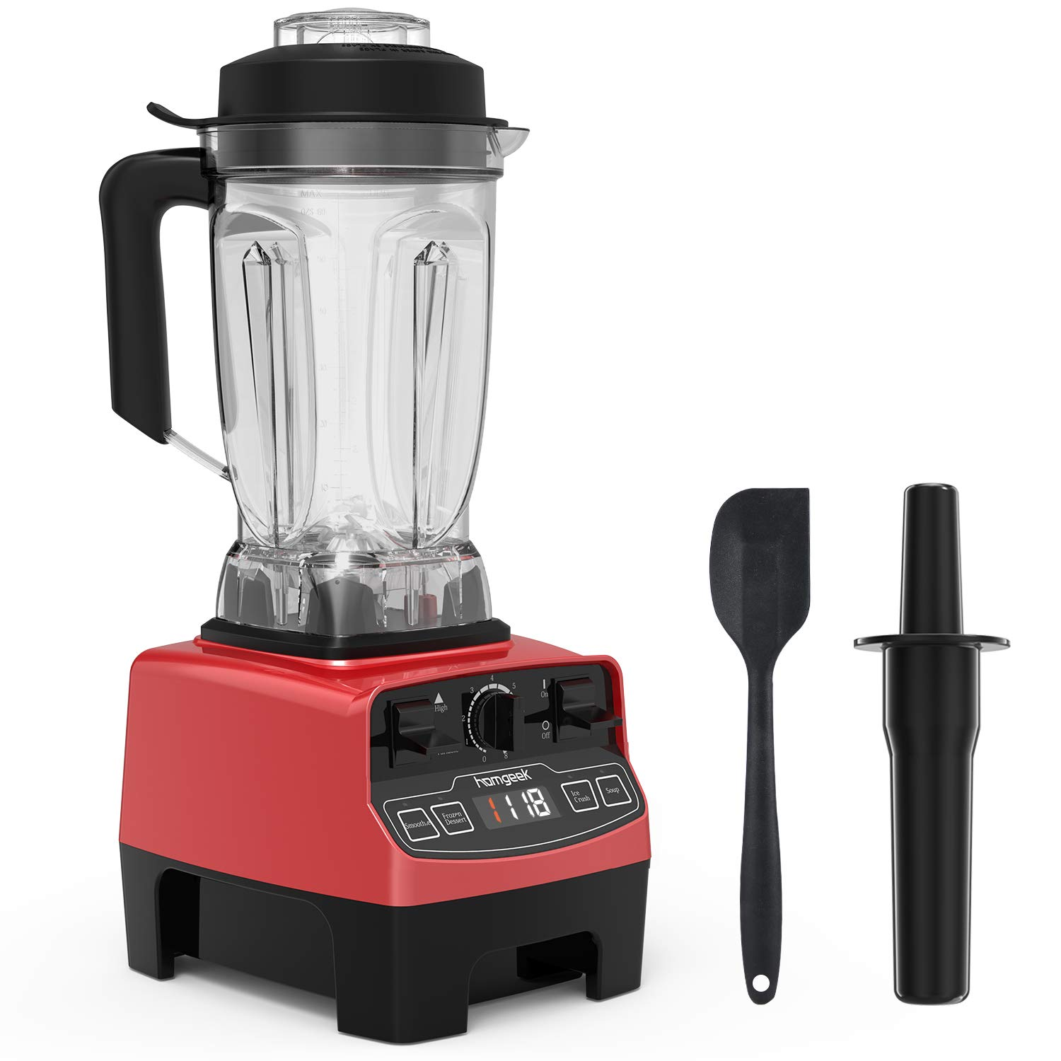 Homgeek Professional Blender, Countertop Blender 1450W, High Power Blender with High Speed, Built-in Timer, Smoothie Maker 68 oz for Crusing Ice, Frozen Desser, Soup