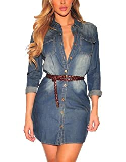 765fdfb90f4d AngelSpace Womens Casual Spring Summer Ripped-Holes Denim Jacket ...