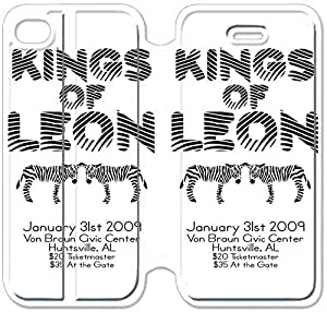 4 4s Cover,[Pu Leather Cover] Kings Of Leon Theme New iPhone 4 4s Case Cover KS0793