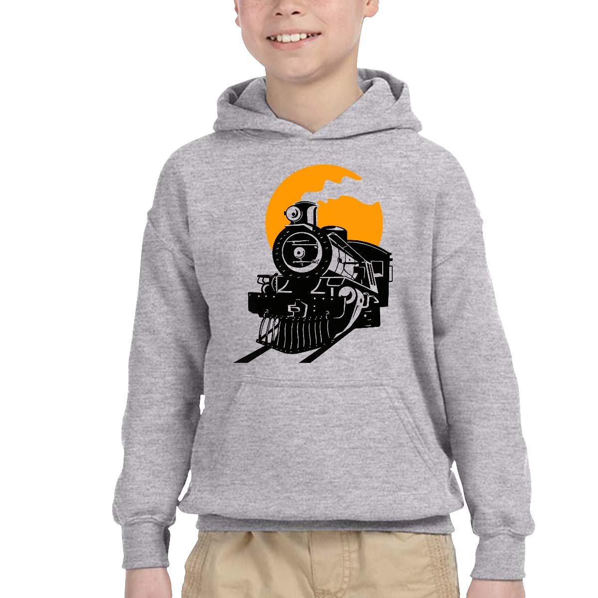 YTH/&123 Kids /& Toddler Pullover Hoodie Fleece Steam Train Sweater