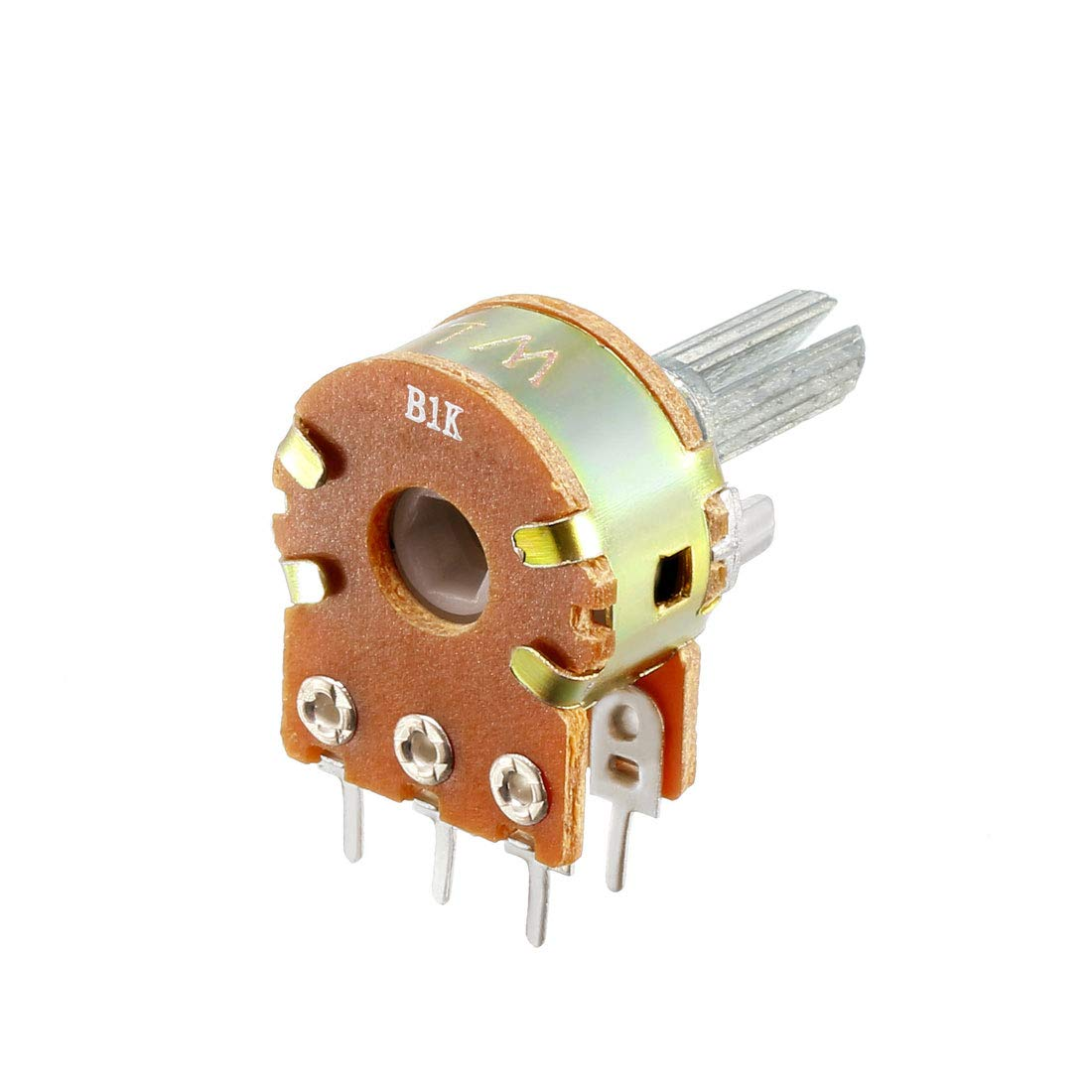 uxcell 8pcs 1K 20K 5K 10K Variable Resistor Single Rotary Carbon Potentiometer Knobs WH148