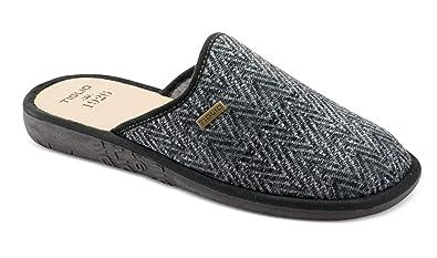 sito ufficiale vendita outlet vendita outlet tiglio Pantofole Ciabatte Uomo 882 Grigio: Amazon.it: Scarpe ...
