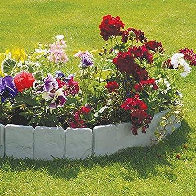 Futaikang - Borde de plástico Flexible para jardín, 10 Unidades, Gris, 2 x 250 x 23 cm, 5 Metros, decoración de jardín, Bordes de parterres, plástico, Manualidades: Amazon.es: Jardín