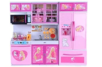 Buy Johnmacc Barbie Beautiful Vogue Kitchen Play Set For Girl Kids Online At Low Prices In India Amazon In