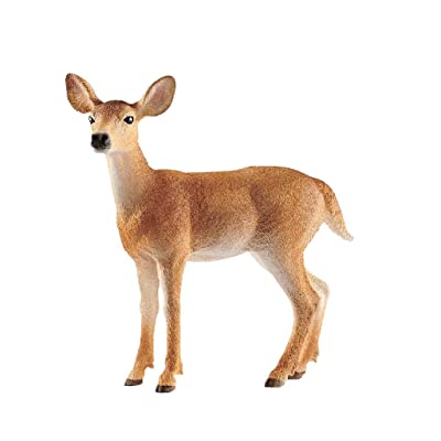SCHLEICH Wild Life White-Tailed Doe Educational Figurine for Kids Ages 3-8: Toys & Games