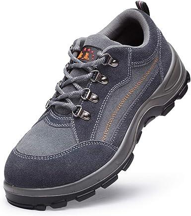 Dxyap Zapato Seguridad Zapatos Trabajo con Punta de Acero HombreLigeros Comodos Impermeable Zapatos Trabajo: Amazon.es: Zapatos y complementos