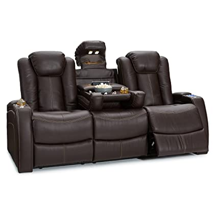 Amazon.com: Seatcraft Republic Leather Home Theater Seating Power ...