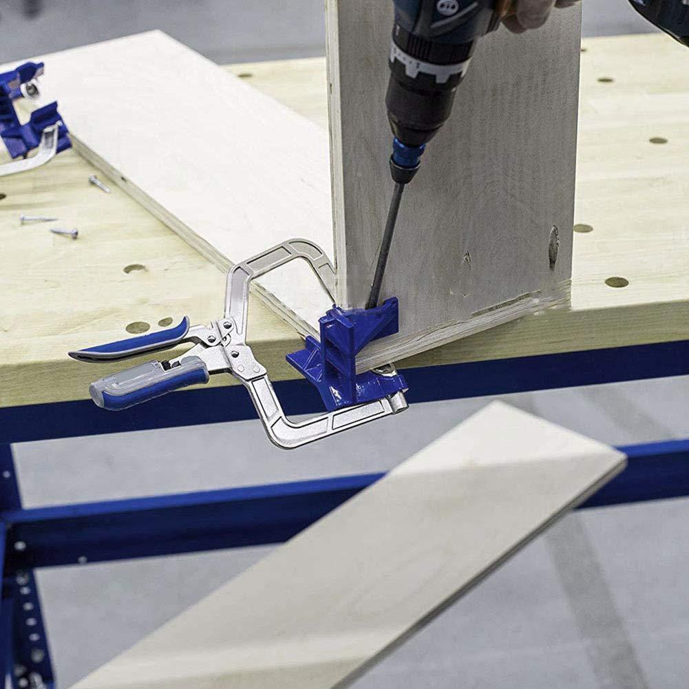 Ensemble De 4 Pince De Guidon /À Angle Multiple circulor Pince /À Angle Droit De 90 Degr/és Support De Coin pour Cadre Photo Outils De Bricolage en Bois