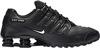 2c75251016a1 Nike Men s Shox NZ Running Shoe Black White Black - 7.5 D(M