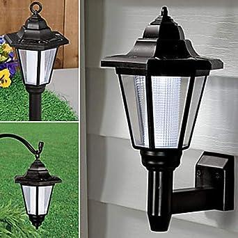 Luminaria Luz LED Luz solar Luz de jardín Iluminación exterior Luz de pared LED solar-Blanco cálido: Amazon.es: Iluminación
