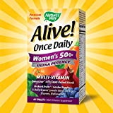Natures Way Alive! Once Daily Womens 50+ Multivitamin, Ultra Potency, Food-Based Blends (230mg per serving), 60 Tablets